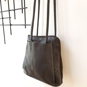 Clark's Convertible Leather Backpack Dark Brown